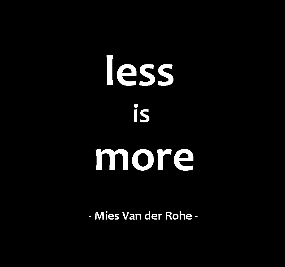 less-is-more