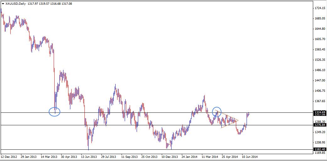 25 Jun - Gold Daily Forex Chart